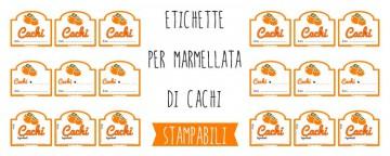 Etichette per Marmellata di Cachi da Stampare