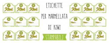 Etichette per Marmellata di Kiwi da Stampare