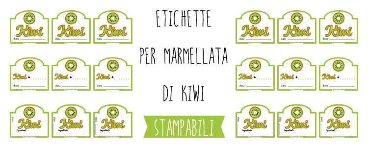 galleria etichette marmellata kiwi