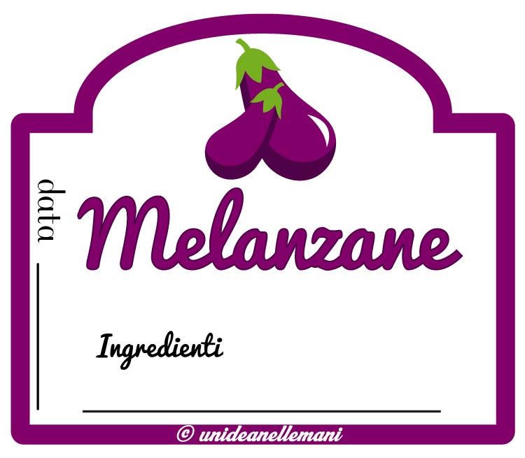 etichetta marmellata melanzane con ingredienti