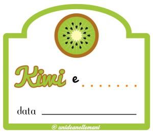 etichetta marmellata kiwi da stampare