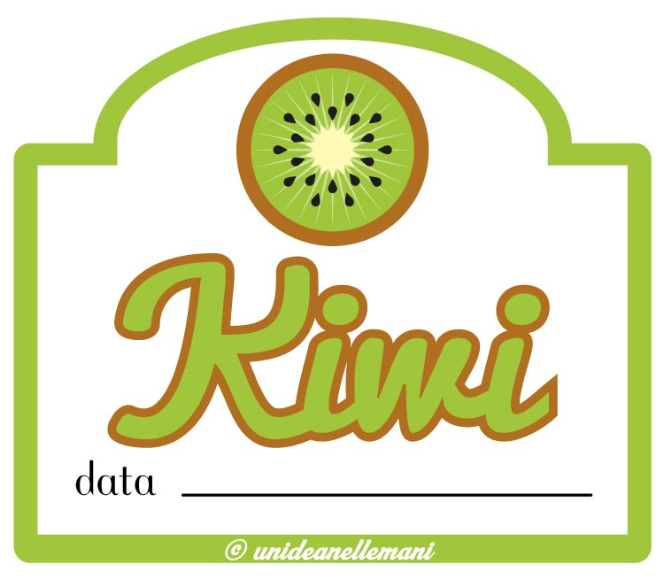 etichetta marmellata kiwi