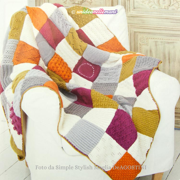 coperta-pathwork-ai-ferri-Simple-Stylish-Maglia