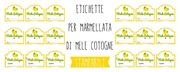 Populaire Etichette per Marmellata di Mele Cotogne da Stampare CS43