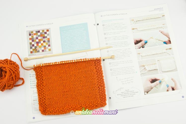 quadrato a maglia rasata