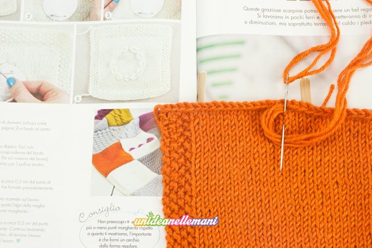 quadrato a maglia  ricamato