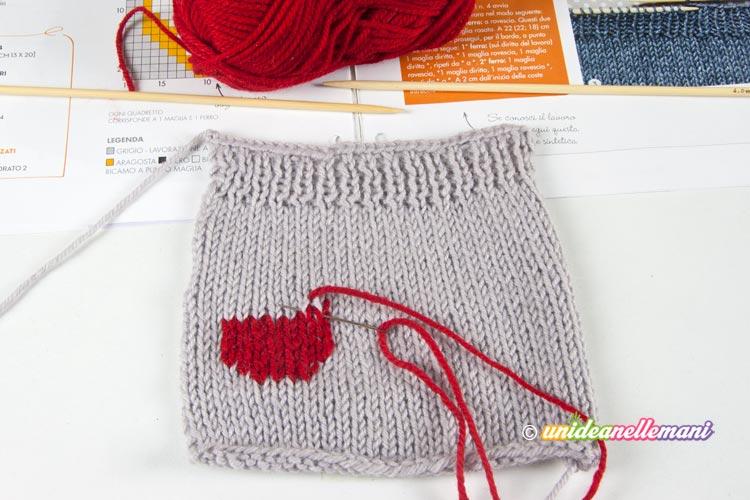 tutorial custodia cellulare a maglia step 4