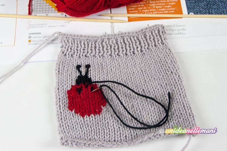 tutorial custodia cellulare a maglia step 5