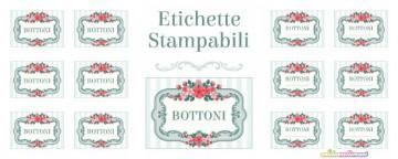 Etichette per scatole di Bottoni - da Stampare