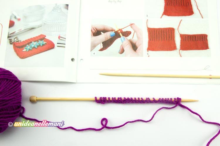pochette a maglia tutorial