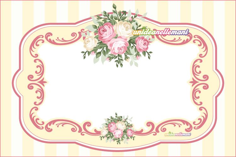 etichetta con rose da stampare per scatole