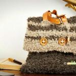 borsa uncinetto facile, borsa uncinetto lana, borsa all'uncinetto istruzioni,