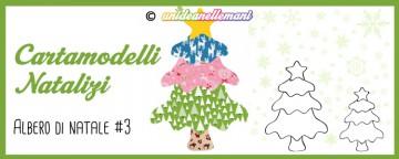 Cartamodelli Natalizi: cartamodello Albero di Natale Ondulat...
