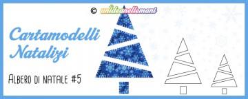 Cartamodelli Natalizi: cartamodello Albero di Natale Zig Zag...