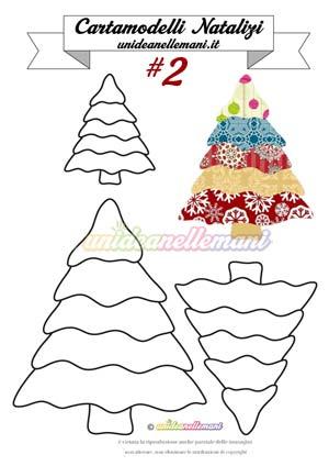 Cartamodello Albero Natale 2 Unideanellemani