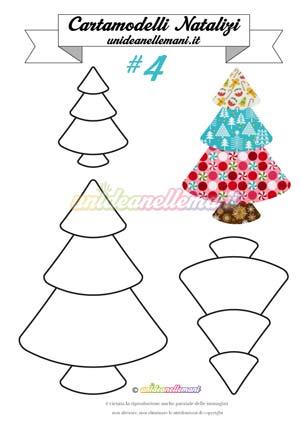 cartamodello albero natale, cartamodello albero natale stoffa, cartamodello albero di natale pannolenci,