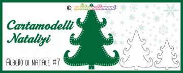 Cartamodelli Natalizi: cartamodello Albero di Natale Ricciol...