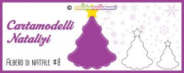 Cartamodelli Natalizi: cartamodello Albero di Natale Ciondol...