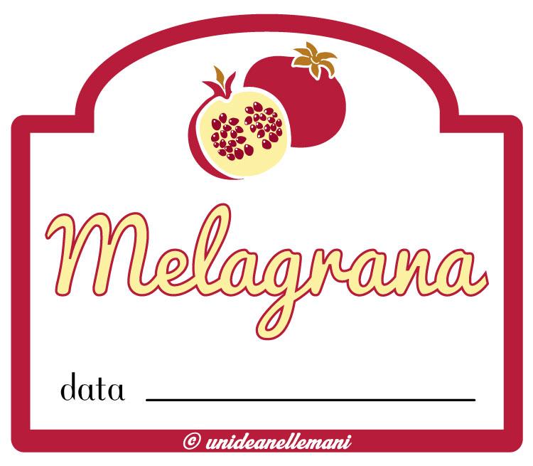 etichette marmellama melagrana