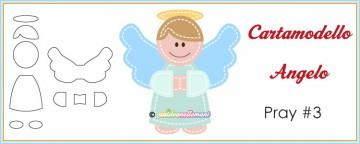 Cartamodello per applicazioni e decorazioni: Angelo Pray #3