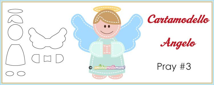 cartamodello da stampare per creare un angelo