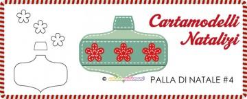 Cartamodelli Natalizi: Palla di Natale Fiorita #4
