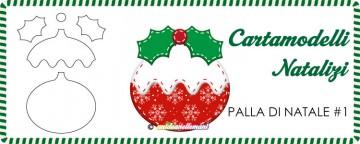 Cartamodelli Natalizi: Palla di Natale Vischio #1