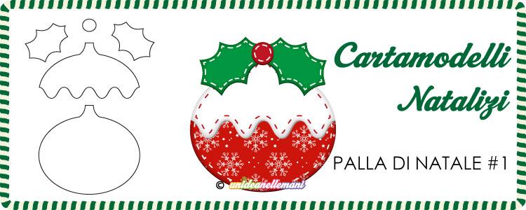 Cartamodelli Natalizi Palla Di Natale Vischio 1