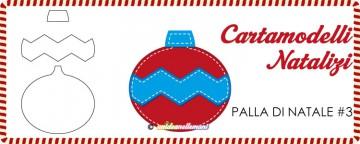 Cartamodelli Natalizi: Palla di Natale Zigzag #3