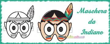 Maschera da Indiano da stampare