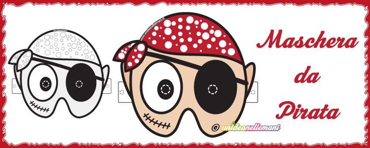 maschera da pirata da stampare