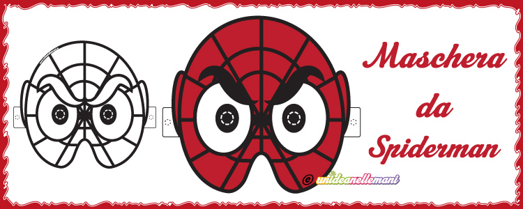 Maschera da spiderman da stampare for Maschere da colorare spiderman