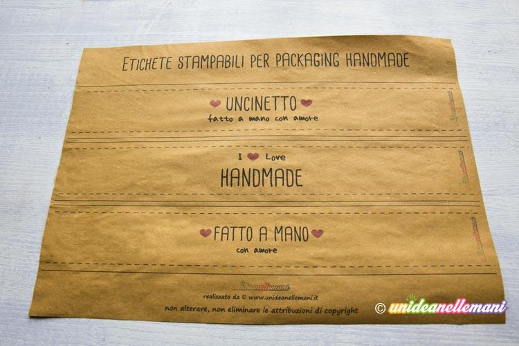 packaging fai da te, etichette stampabili,