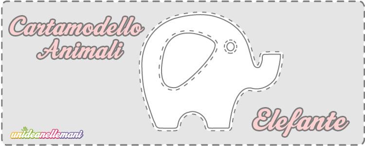 cartamodello elefante, cartamodello elefante stoffa, cartamodello elefante feltro,