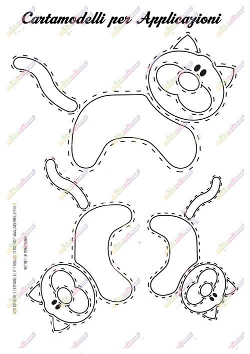 cartamodello gatto, sagoma gatto