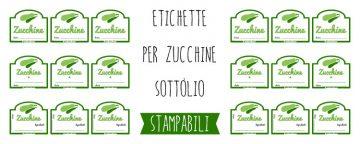 Etichette per conserve di verdure: le Zucchine