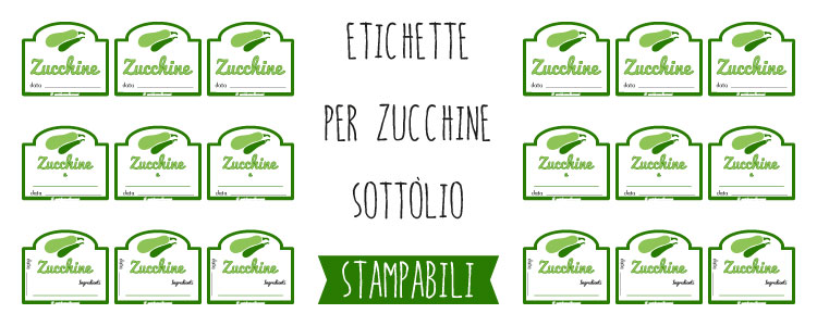 Molto Etichette per conserve di verdure: le Zucchine YN87