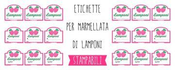 Etichette per Marmellata di Lamponi da Stampare