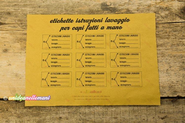 etichette lavaggio da stampare