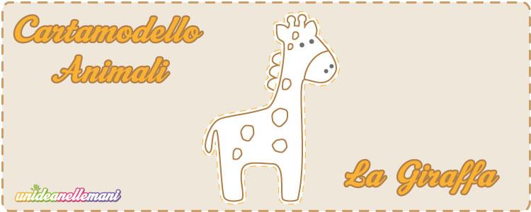 cartamodello per giraffa