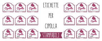 Etichette per Marmellata di Cipolle, da Stampare