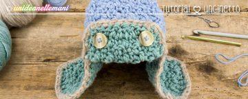 Come fare un bel cappello all'uncinetto invernale con paraor...