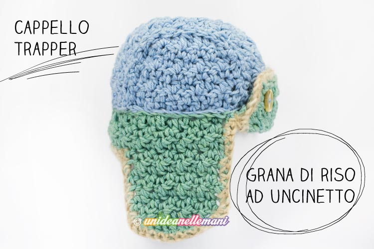cappello-uncinetto-grana-di-riso