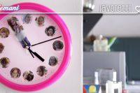 lavoretto bambini orologio, lavoretti bambini riciclo,