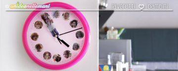 Lavoretti creativi per bambini: l'orologio da parete