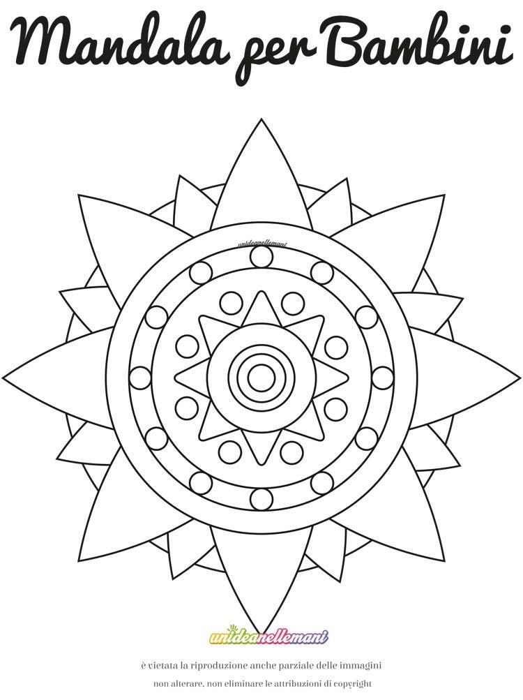 Disegno Mandala Rosa Dei Venti 1 Da Colorare E Da Stampare