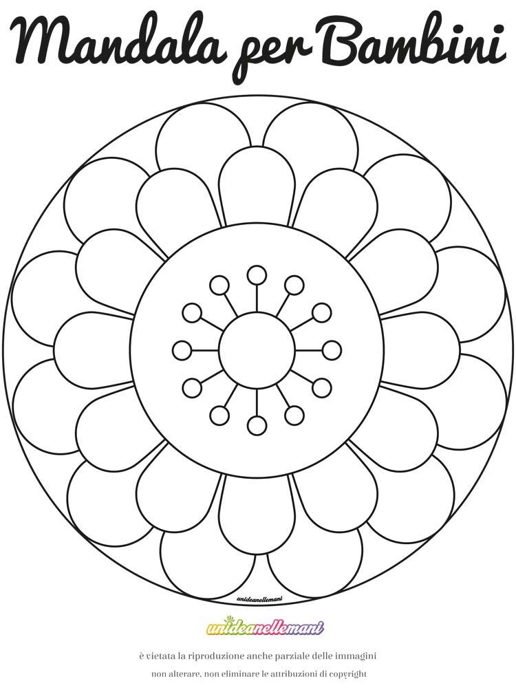 Disegno mandala fiore gerbera da colorare e da stampare for Disegni di natale facili per bambini