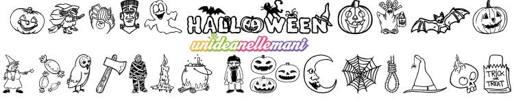 Tante sagome di halloween da ritagliare e colorare - Halloween immagini da colorare ...