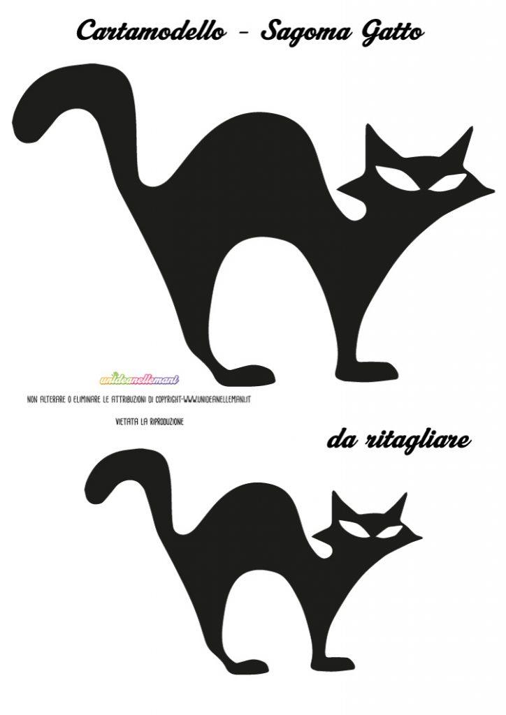sagoma gatto, sagoma gatto nero, sagoma gatto halloween,