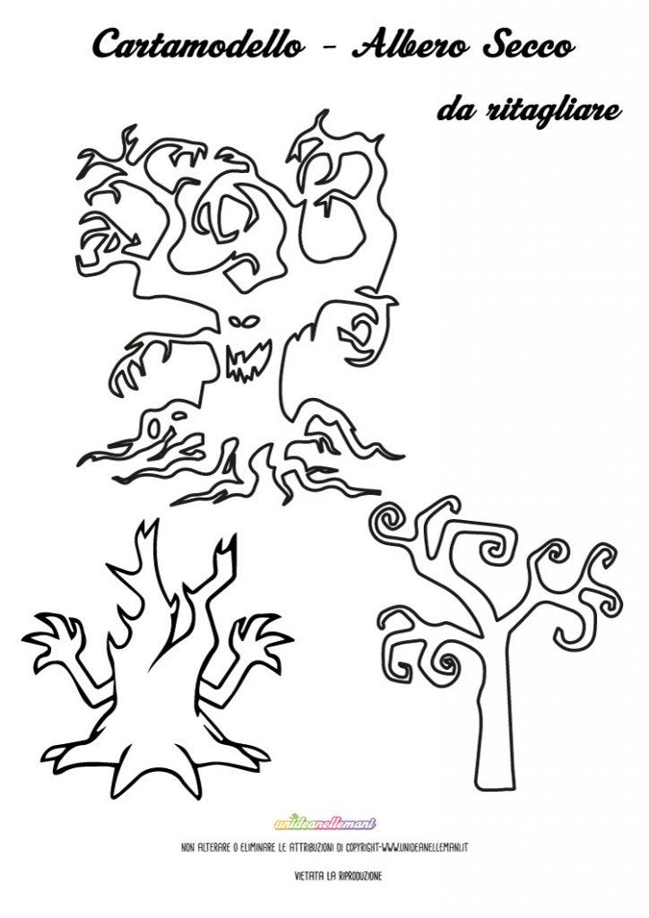 halloween-sagoma-albero-secco
